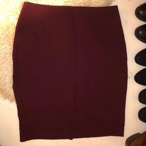 Burgundy Ann Taylor skirt